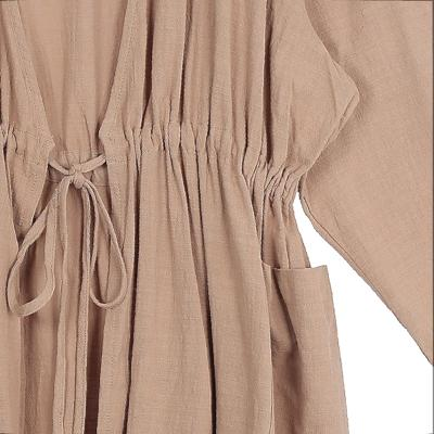 waist string robe brown